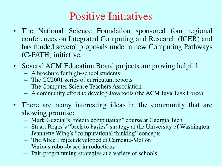 Positive Initiatives