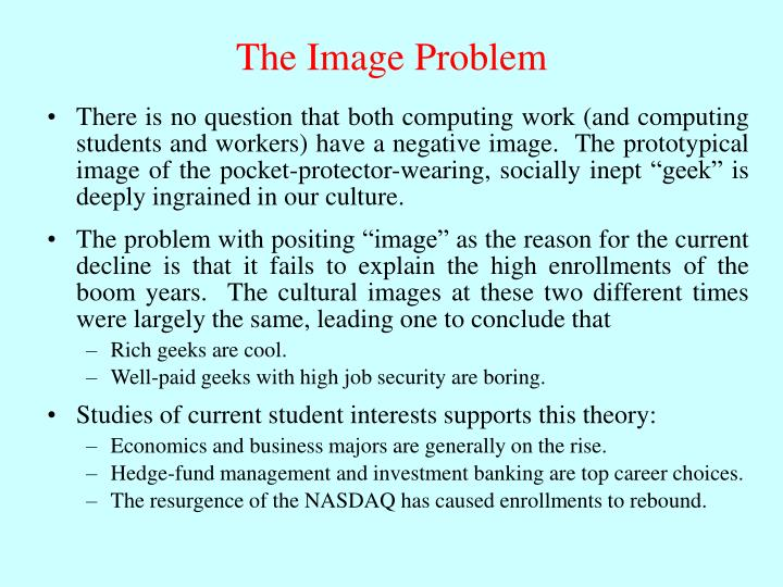 The Image Problem