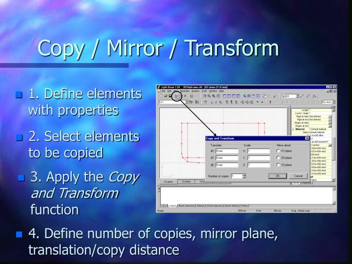 Copy / Mirror / Transform