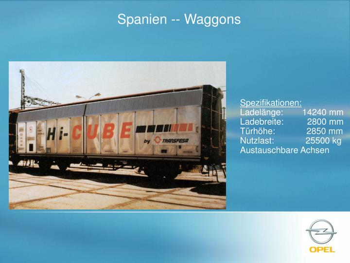 Spanien -- Waggons