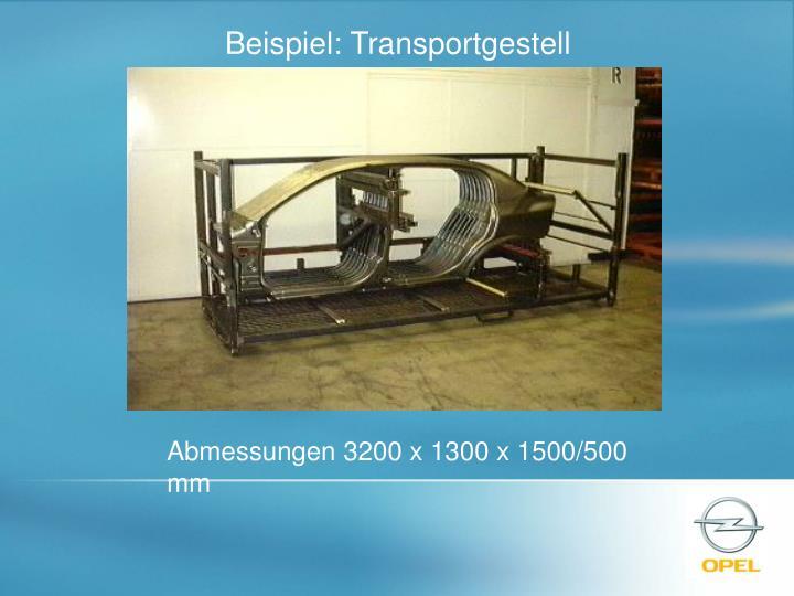 Beispiel: Transportgestell