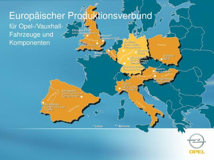 Europäischer Produktionsverbund