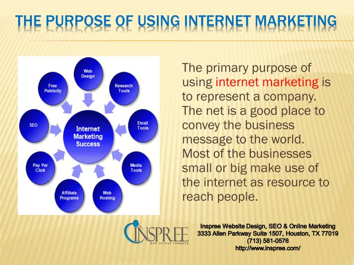 The purpose of using internet marketing