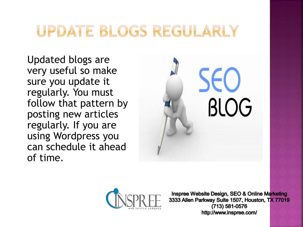update blogs regularly