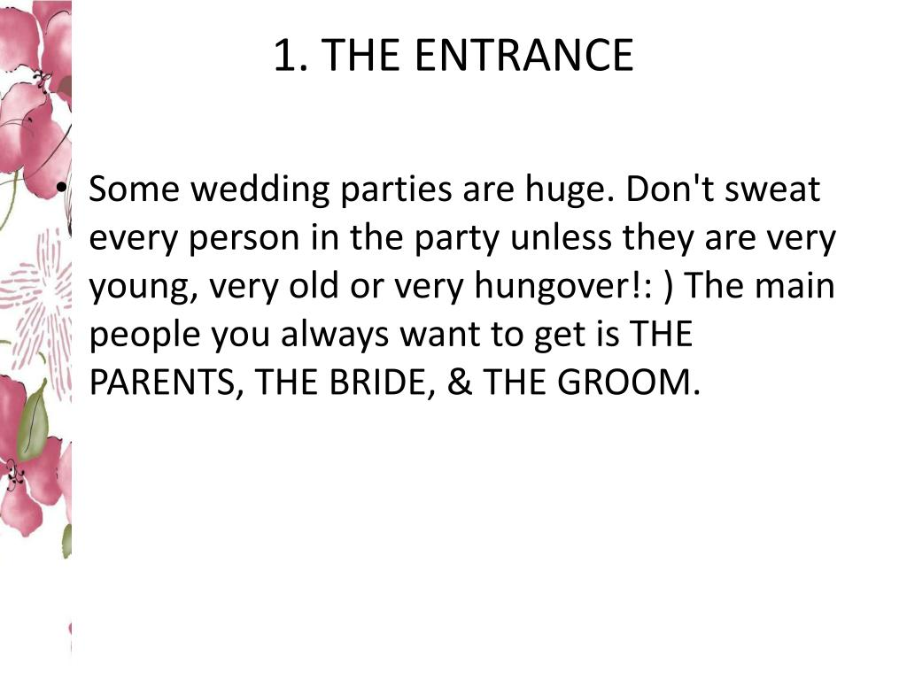 1. THE ENTRANCE