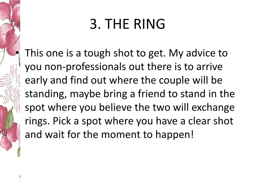 3. THE RING