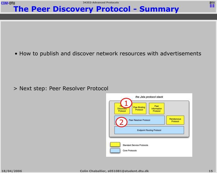 > Next step: Peer Resolver Protocol