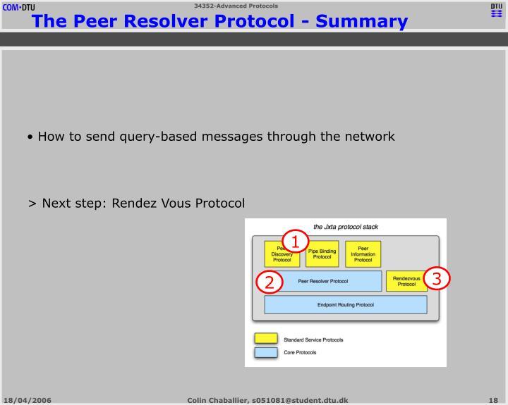 > Next step: Rendez Vous Protocol