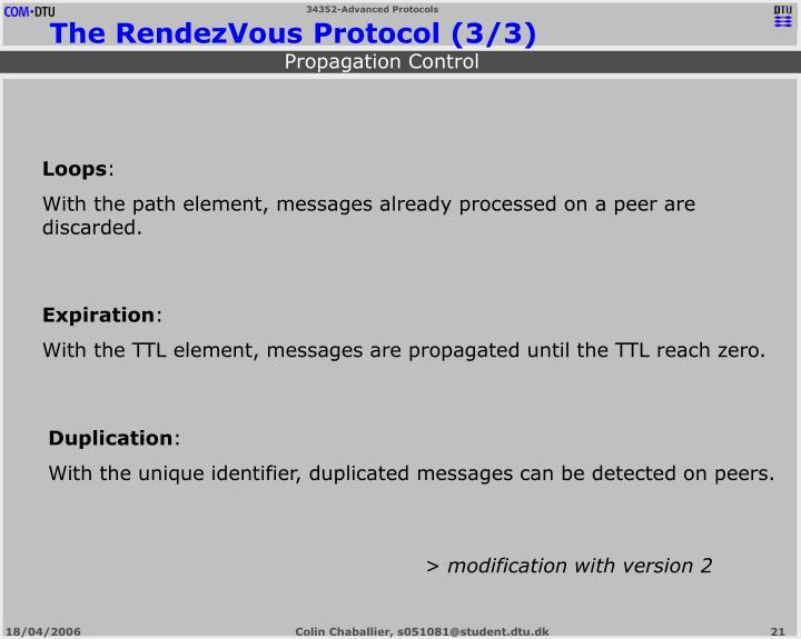 The RendezVous Protocol (3/3)