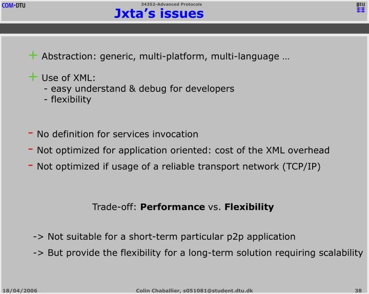 Jxta's issues