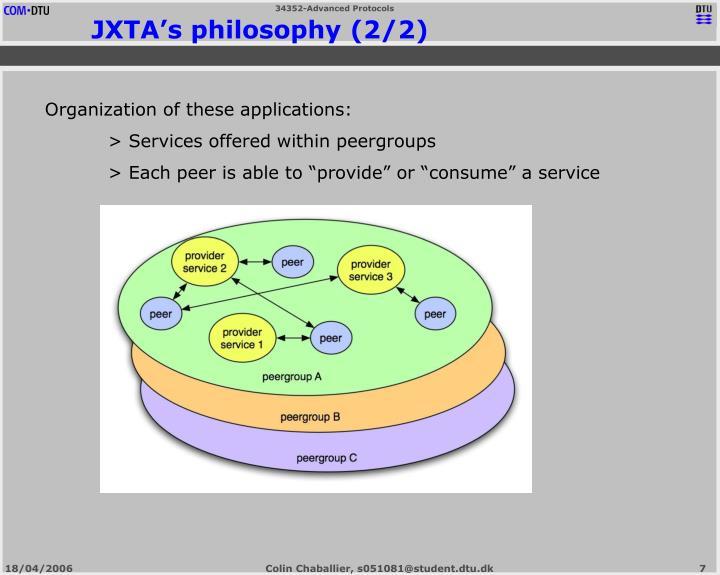 JXTA's philosophy (2/2)