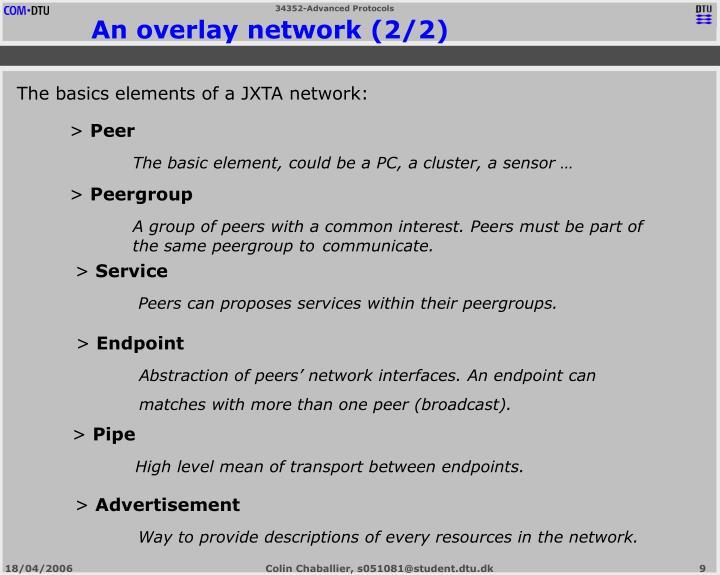 An overlay network (2/2)