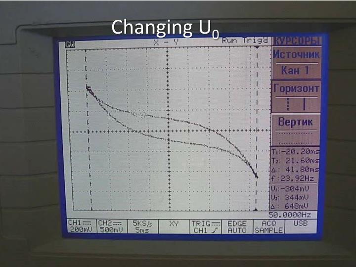 Changing U