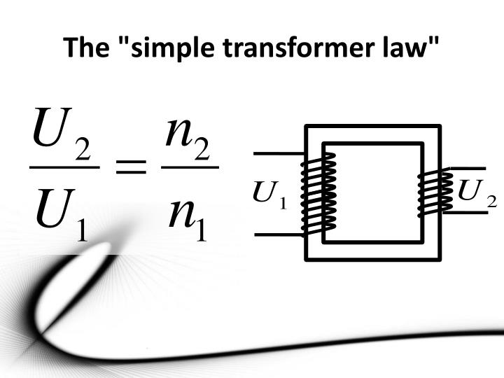 """The """"simple transformer law"""""""