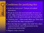 conditions for justifying lies