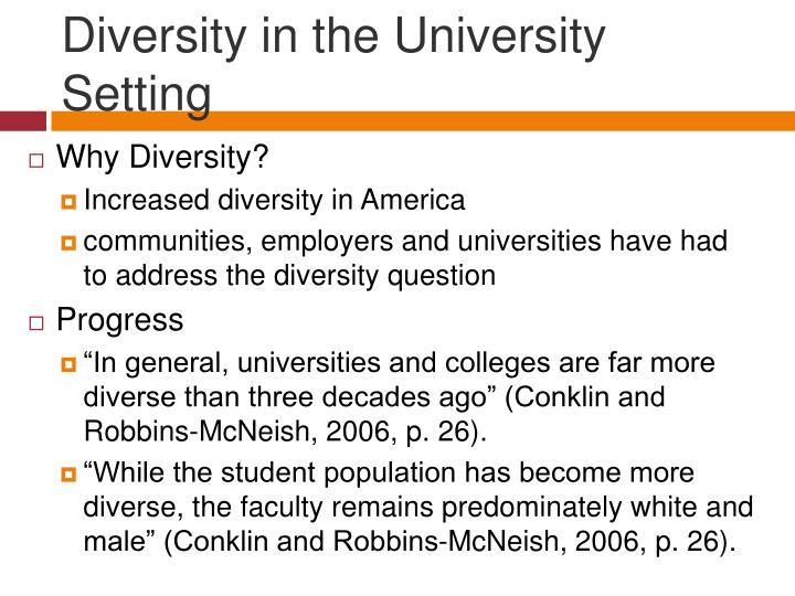 Diversity in the University Setting