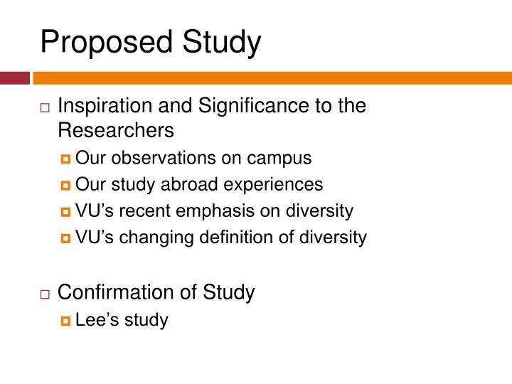 Proposed Study