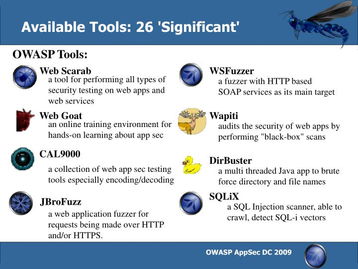 Available Tools: 26 'Significant'