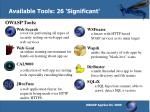 available tools 26 significant