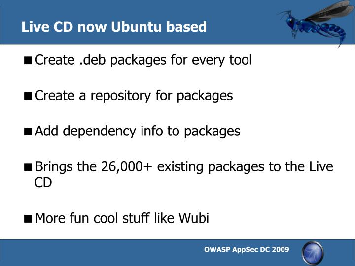 Live CD now Ubuntu based