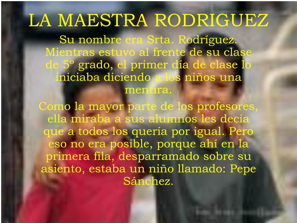 LA MAESTRA RODRIGUEZ
