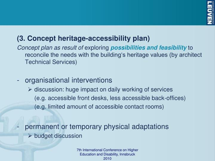 (3. Concept heritage-accessibility plan)
