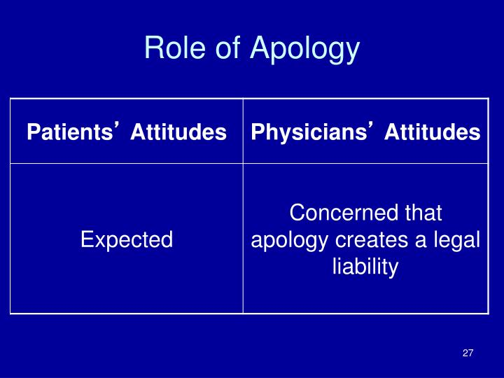 Role of Apology