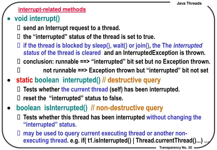 ppt lecture 7 java threads powerpoint presentation id