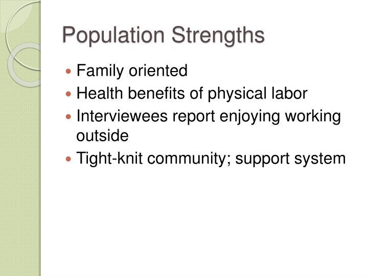 Population Strengths