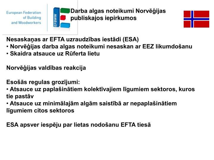 Darba algas noteikumi Norvēģijas