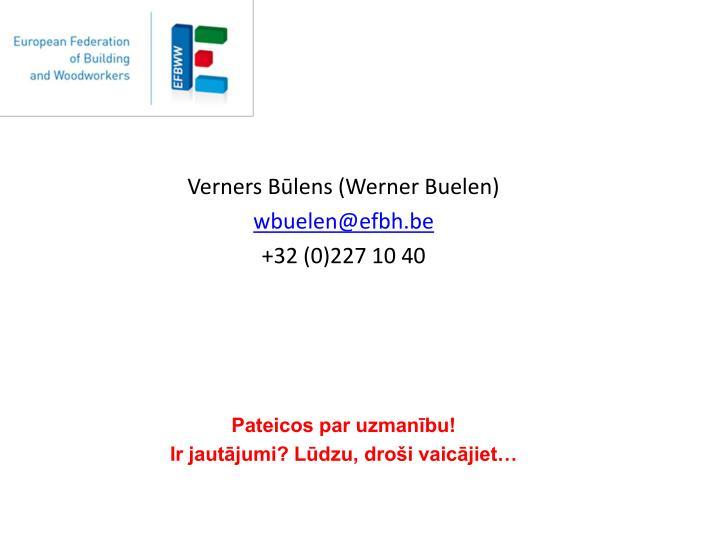 Verners Būlens (Werner Buelen)