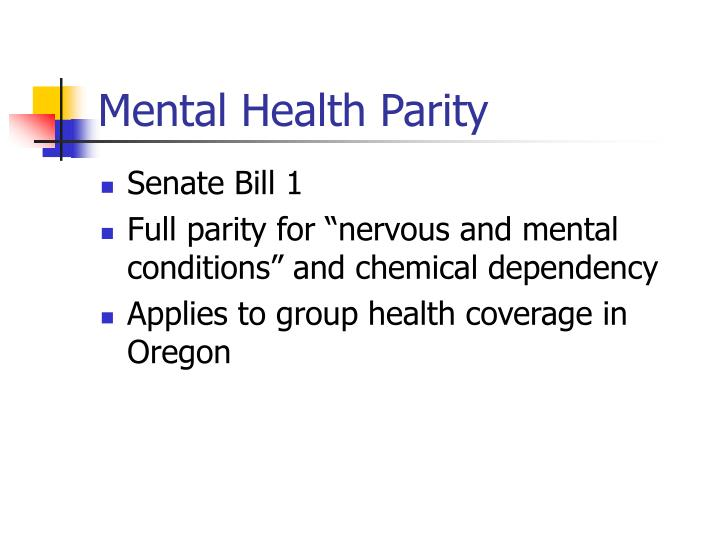 Mental Health Parity