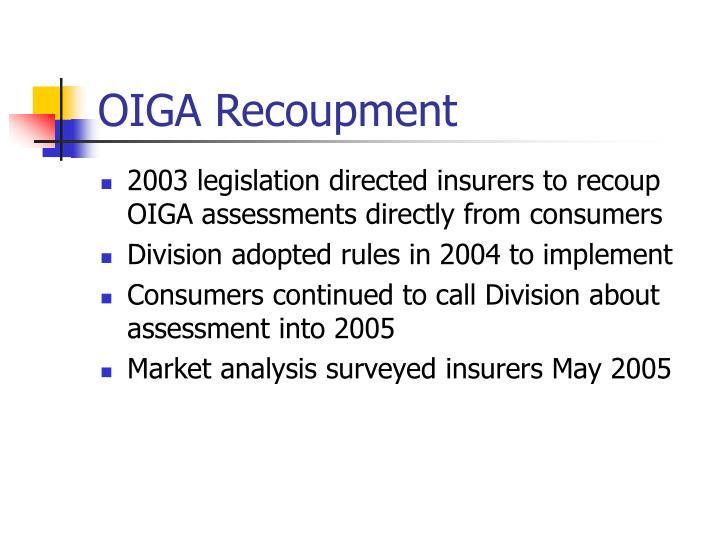 OIGA Recoupment