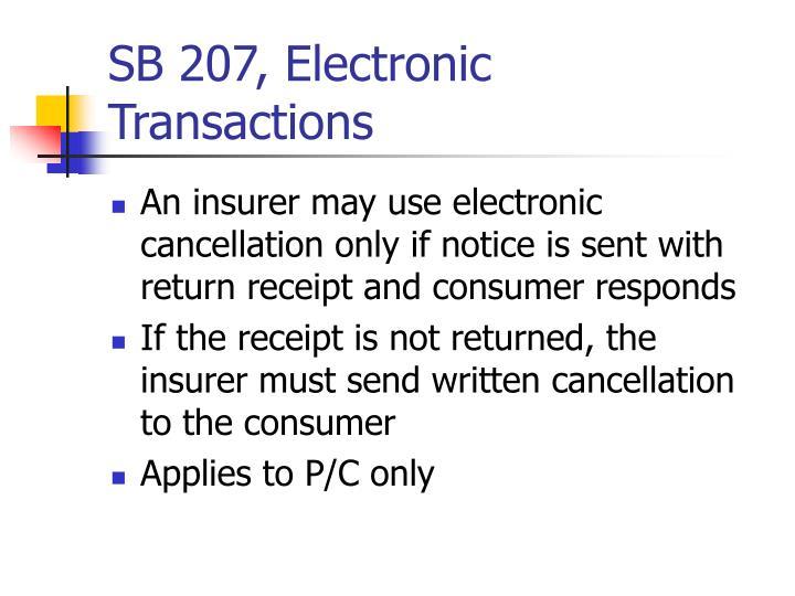 SB 207, Electronic Transactions