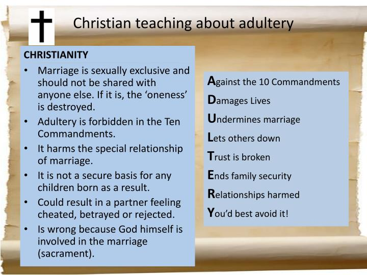 Christian teaching about adultery