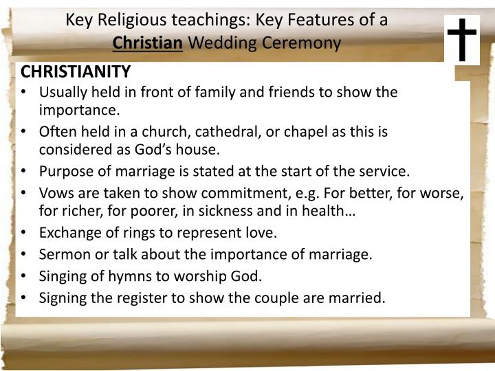 Key Religious teachings: Key Features of a