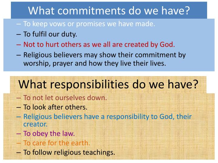 What commitments do we have