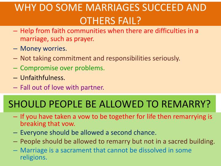 WHY DO SOME MARRIAGES SUCCEED AND OTHERS FAIL?