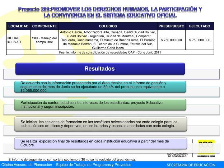 Proyecto 289: