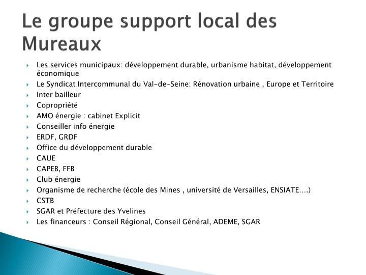 Le groupe support local des