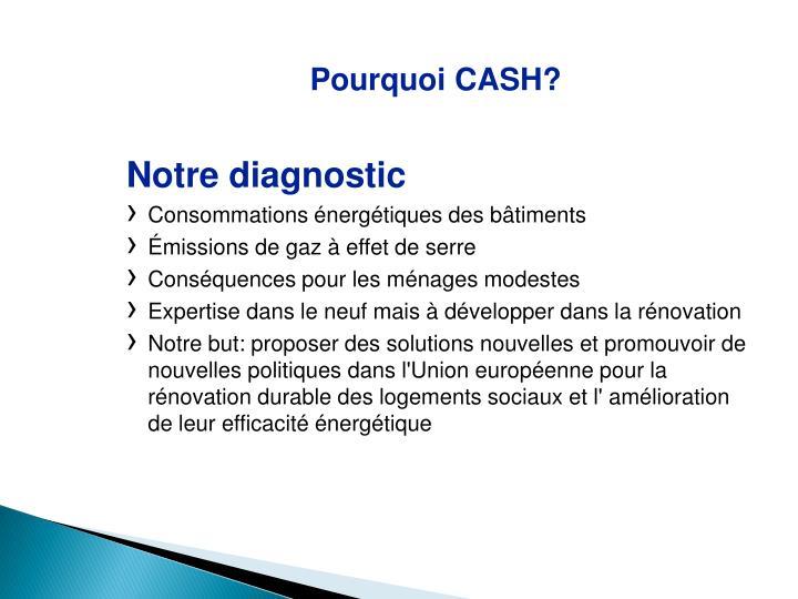 Pourquoi CASH?