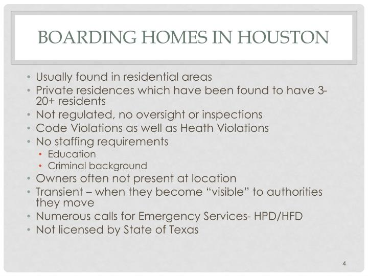 Boarding Homes in Houston