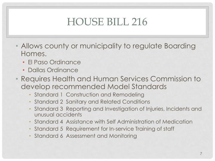 HOUSE Bill 216