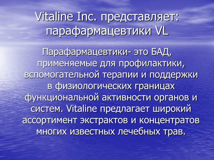 Vitaline Inc.