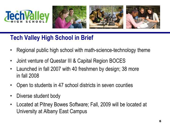 Tech Valley High School in Brief