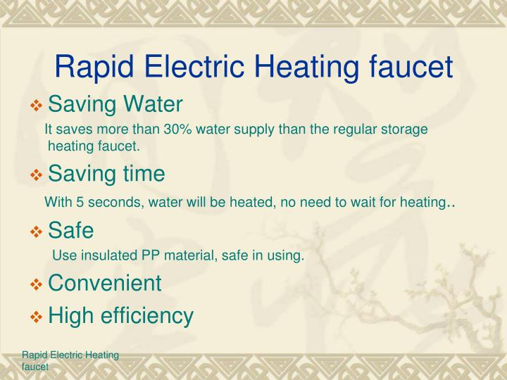 Rapid Electric Heating faucet