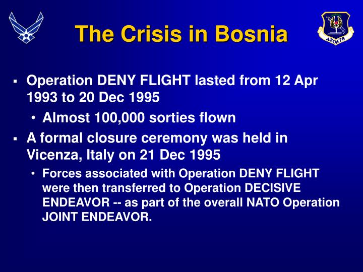 The Crisis in Bosnia
