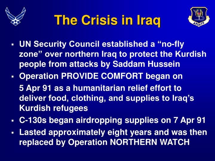 The crisis in iraq