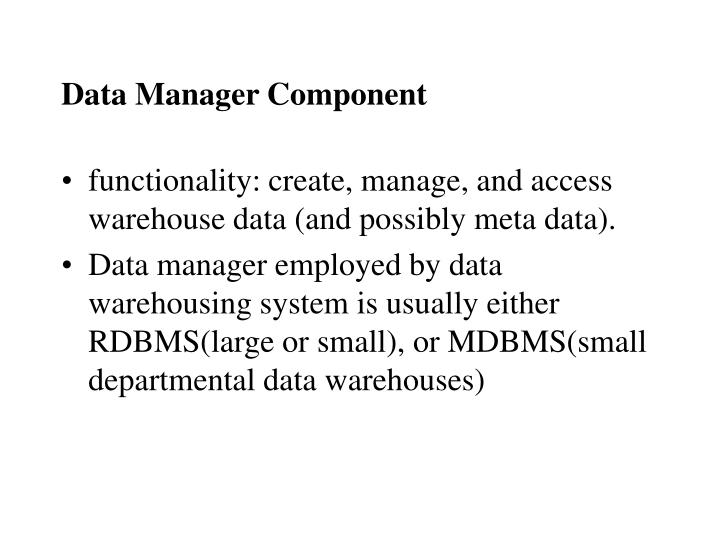 Data Manager Component