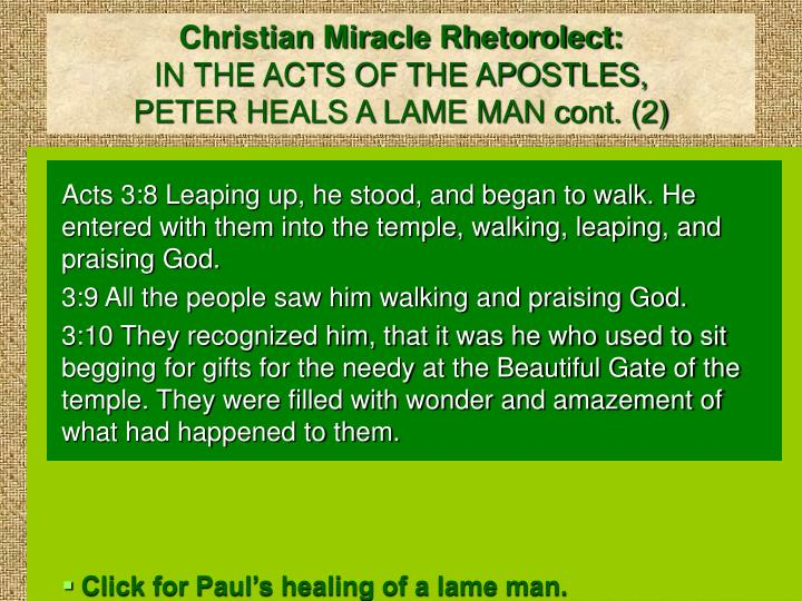 Christian Miracle Rhetorolect: